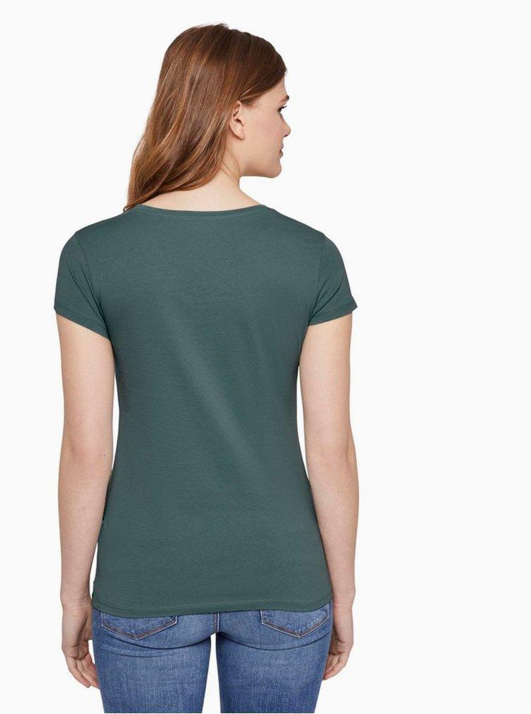 Zelené dámské tričko Tom Tailor Denim