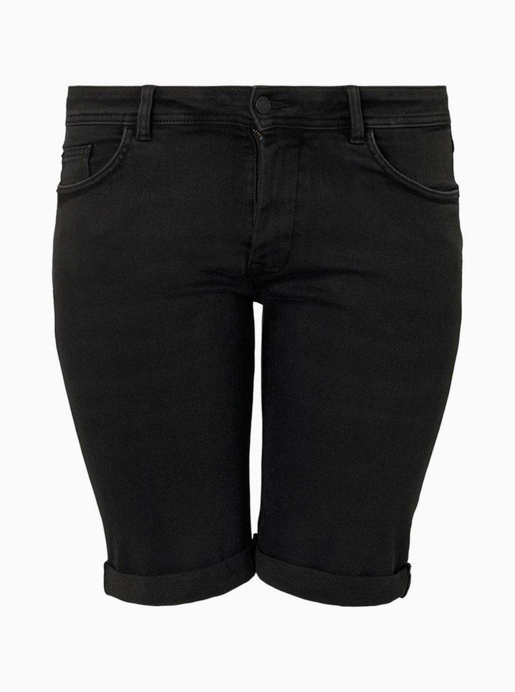 Černé džínové kraťasy My True Me Tom Tailor