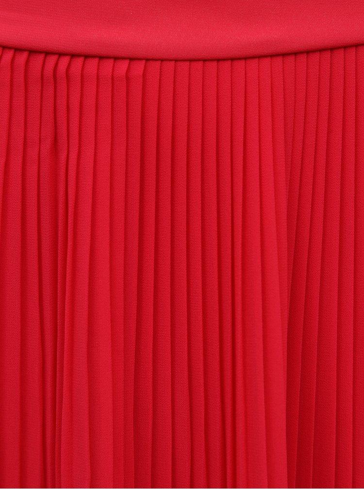 Červená plisovaná sukně VILA