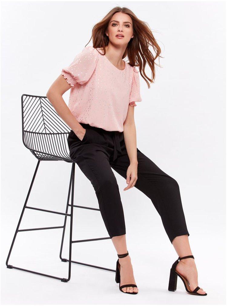 Černé zkrácené kalhoty M&Co Petite
