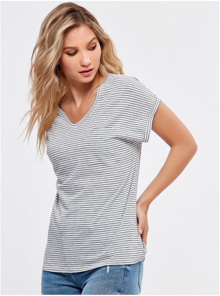 Světle šedé pruhované tričko M&Co