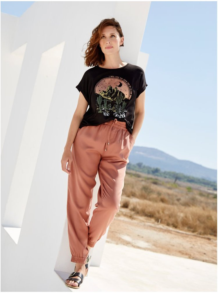 Hnědé kalhoty M&Co