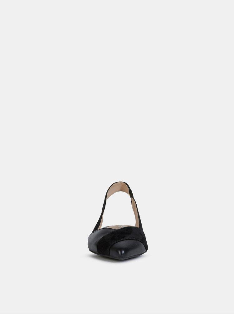Balerini, mocasini pentru femei Geox - negru
