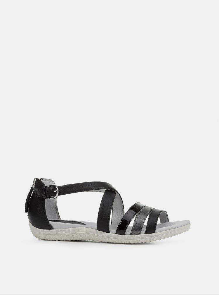 Černé dámské sandály Geox Vega