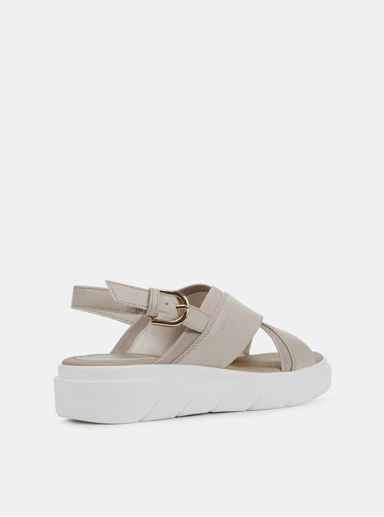 Béžové dámské sandály Geox Tamas