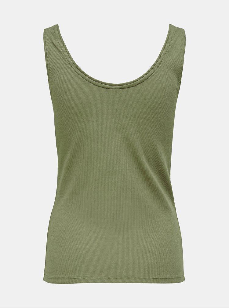 Zelené basic tílko Jacqueline de Yong Imola