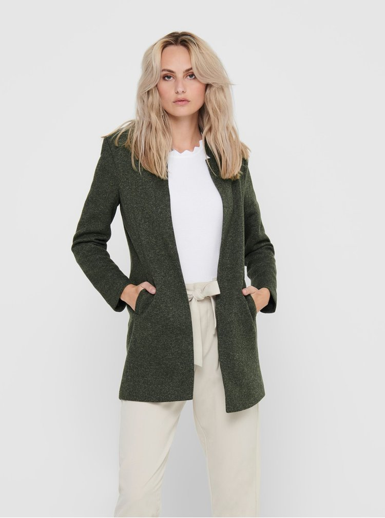 Trenciuri si paltoane subtiri pentru femei ONLY - verde inchis