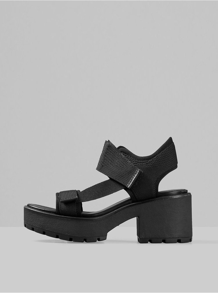 Černé sandálky na podpatku Vagabond Dioon
