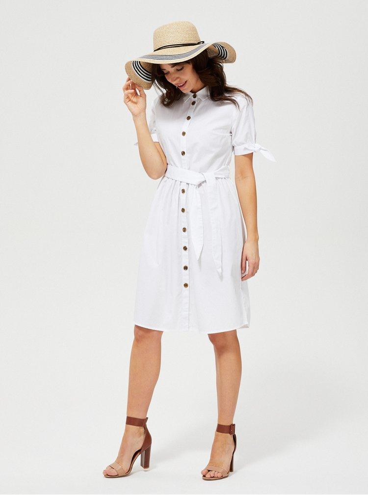 Bílé košilové šaty Moodo