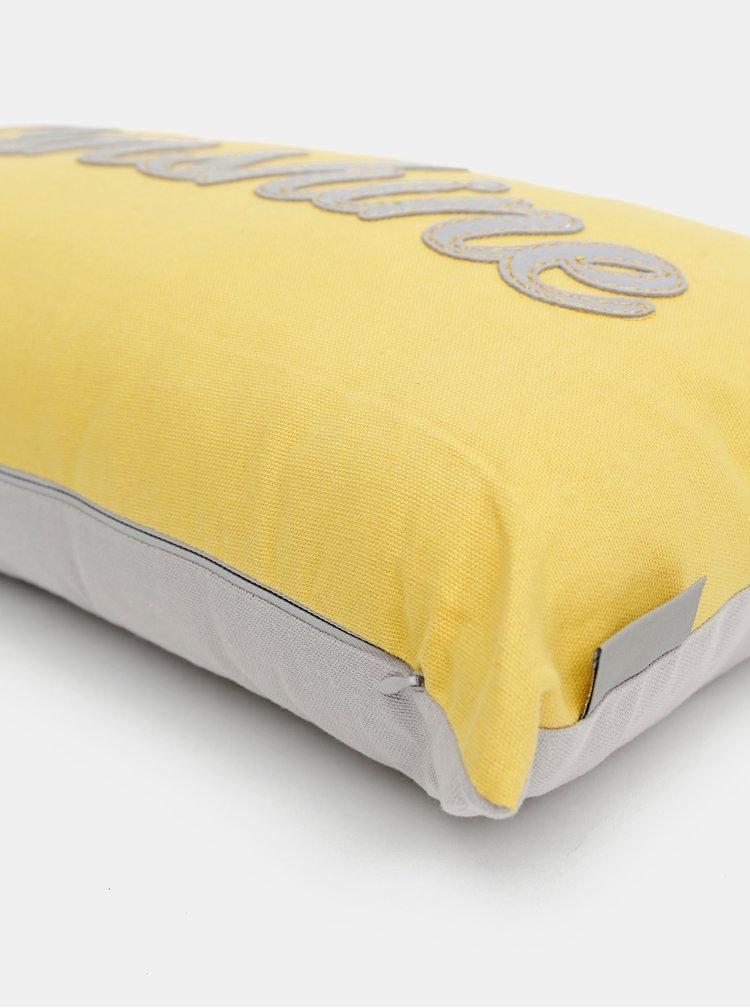 Šedo-žlutý polštář Cooksmart 50 x 30 cm