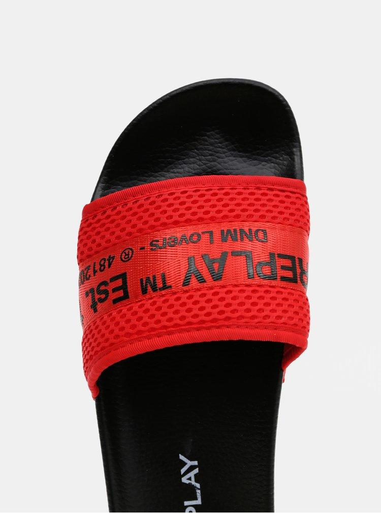 Červené pánské pantofle Replay