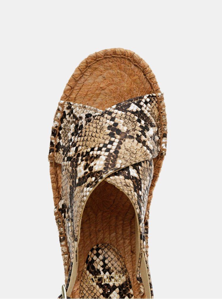 Hnědé sandálky s hadím vzorem Replay