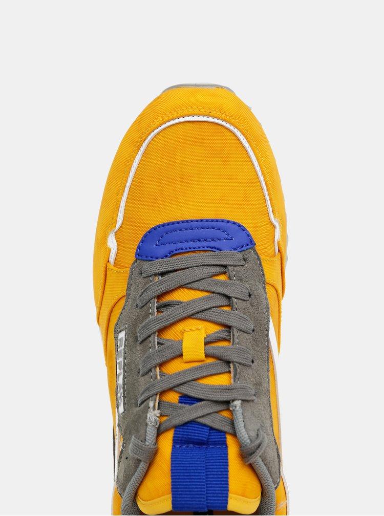 Žluté pánské semišové tenisky Replay