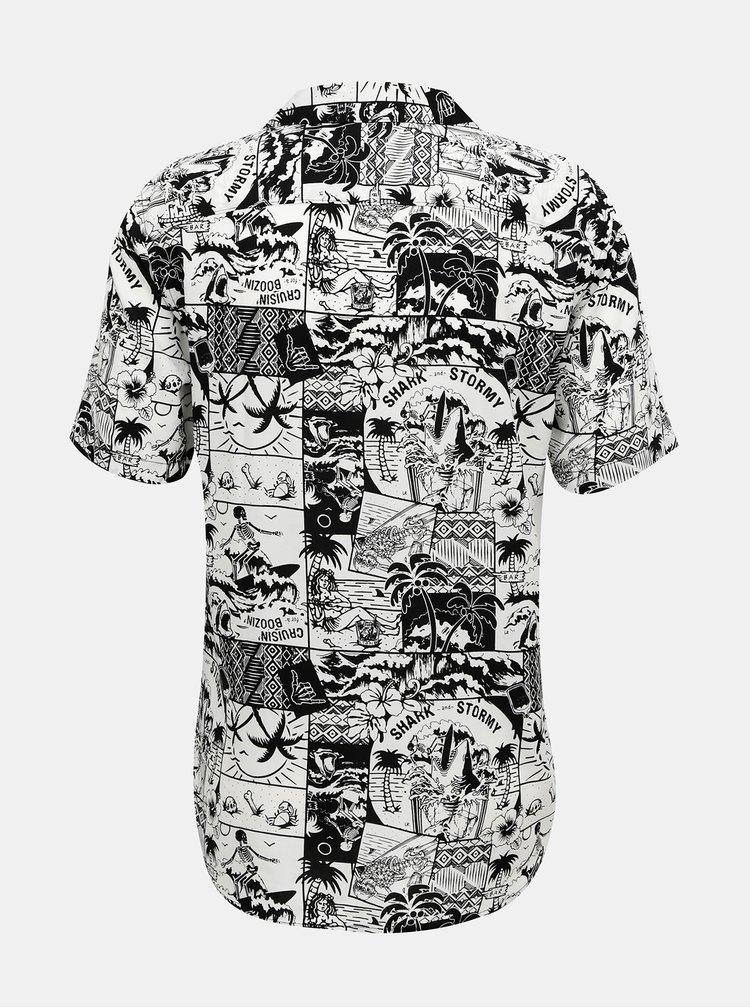 Bílo-černá vzorovaná košile ONLY & SONS