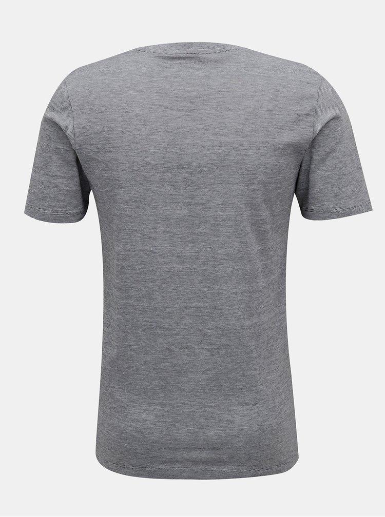 Šedé basic tričko Selected Homme
