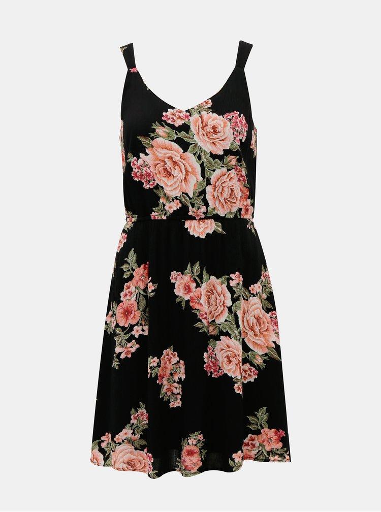 Rochie cu print floral si bretele ONLY