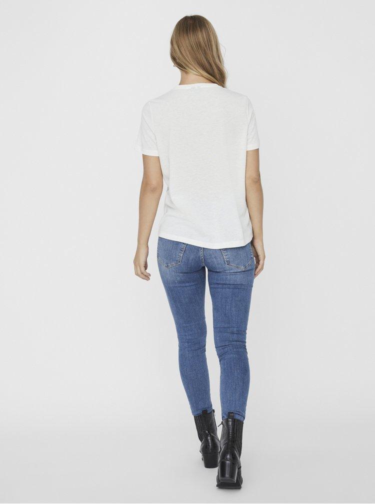 Bílé tričko VERO MODA Trisholly
