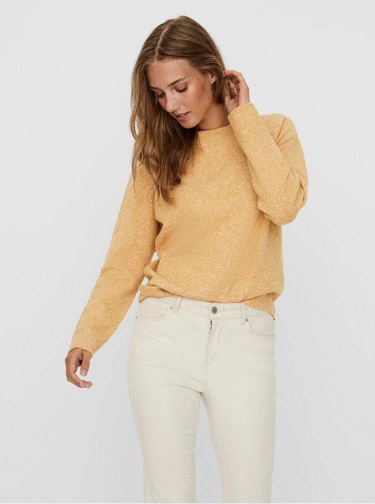 Žlutý melírovaný svetr VERO MODA