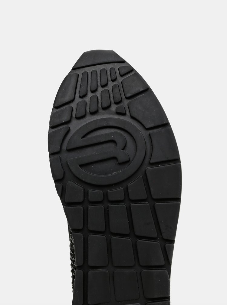Černé dámské tenisky se semišovými detaily Replay