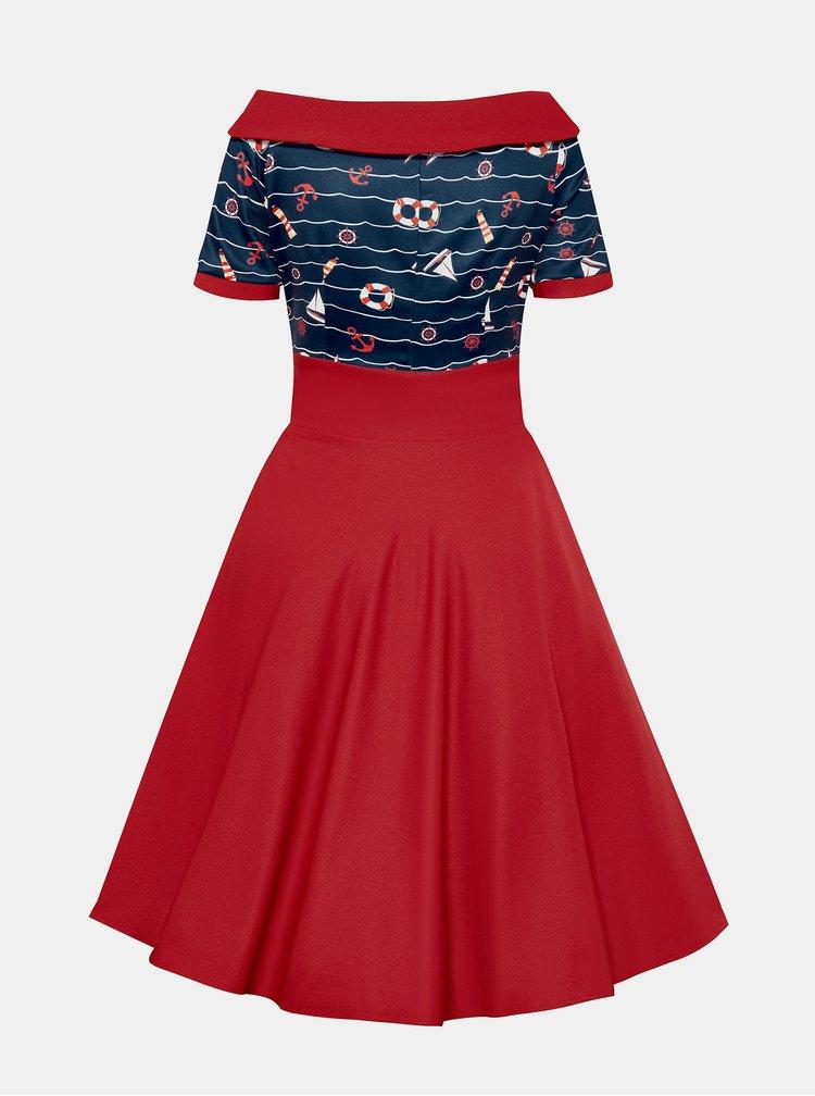 Červené vzorované šaty Dolly & Dotty