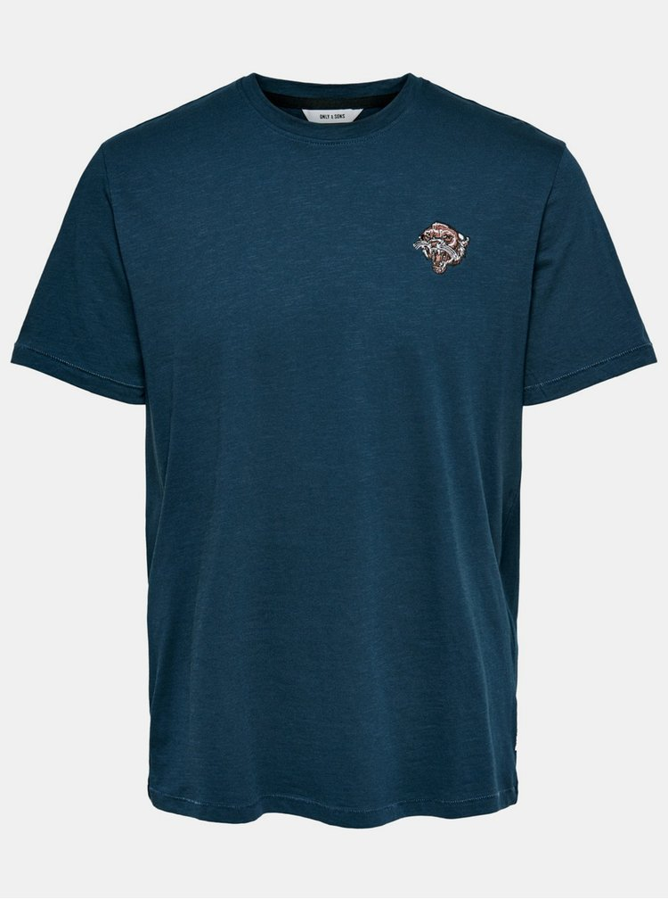 Tmavě modré tričko ONLY & SONS Mag
