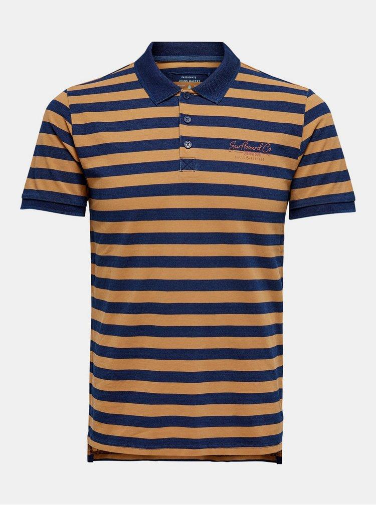 Tricouri polo pentru barbati ONLY & SONS - maro, albastru inchis