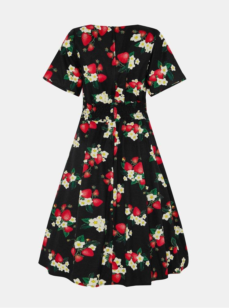 Černé květované šaty Dolly & Dotty