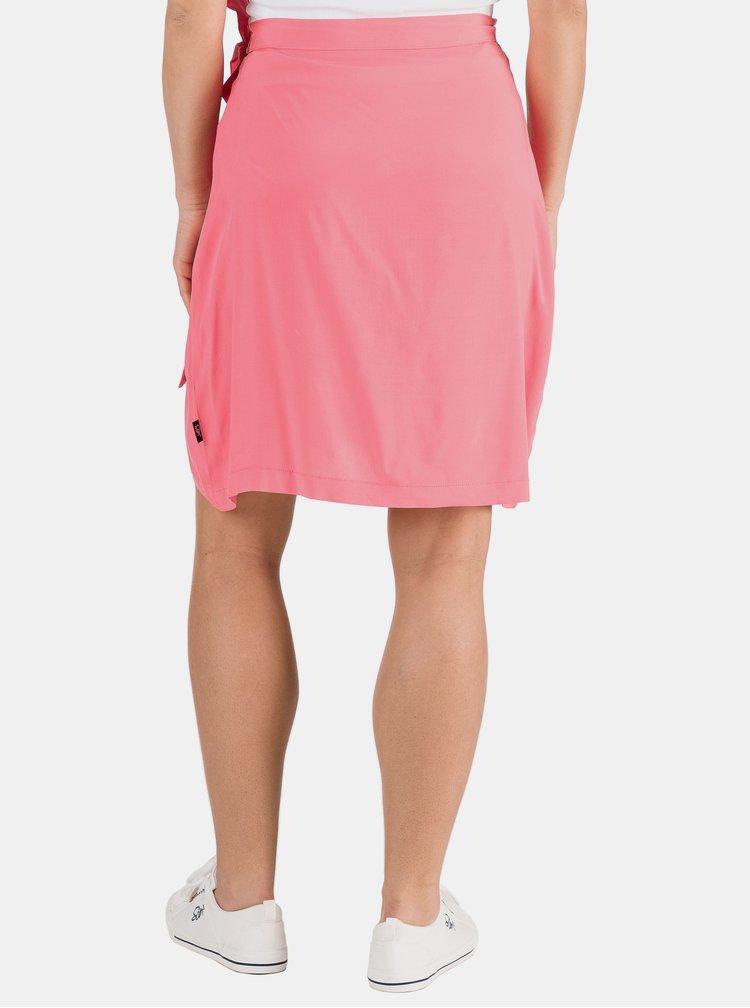 Růžová zavinovací sukně SAM 73