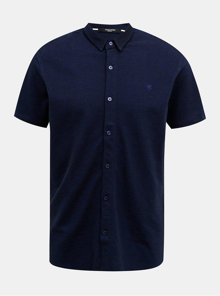 Tricouri cu maneca scurta pentru barbati Jack & Jones - albastru inchis