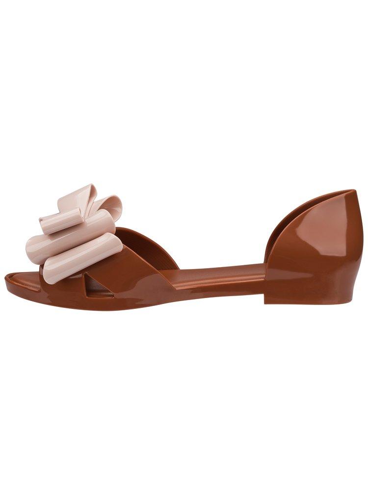 Melissa hnědé sandály Seduction II Brown/Light Pink
