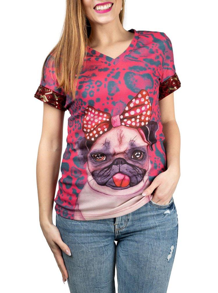 Culito from Spain růžové tričko Frida Buho