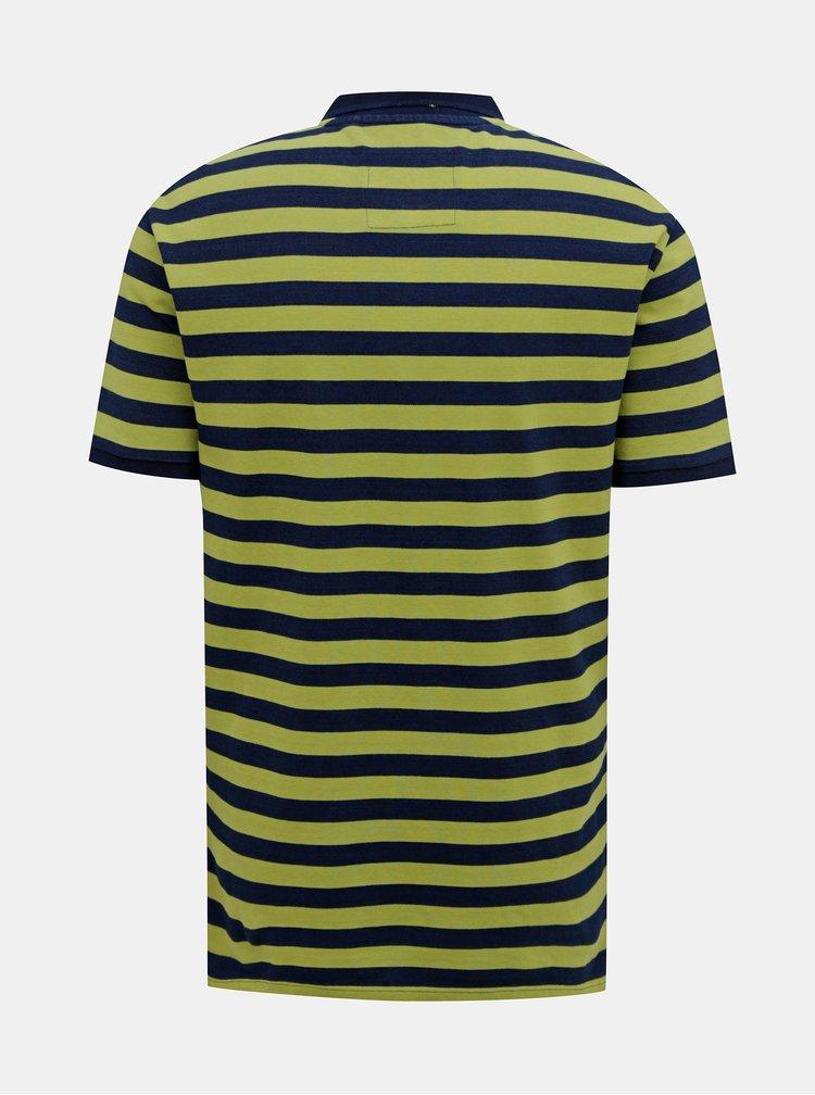 Zelené pruhované polo tričko ONLY & SONS Even