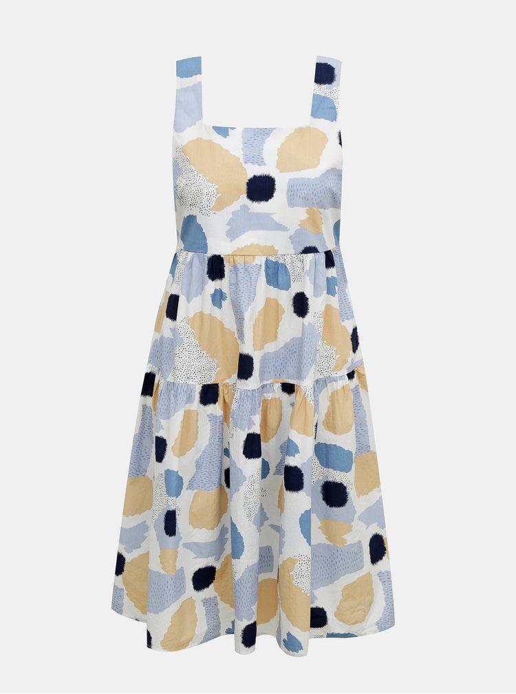 Modro-bílé vzorované šaty Pieces Mimi
