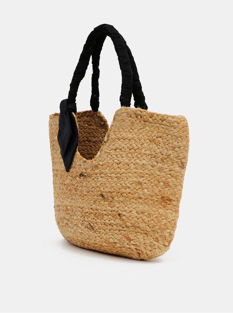 Světle hnědá jutová taška Pieces Milo