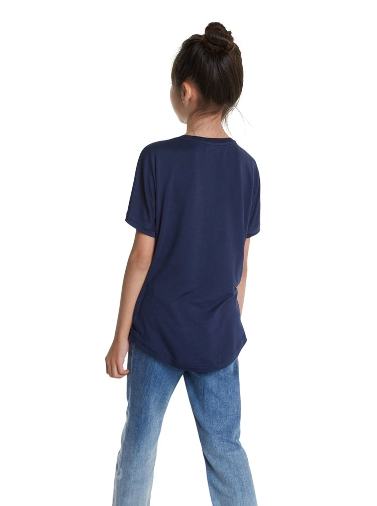 Desigual modré dívčí tričko TS Rhodeisland