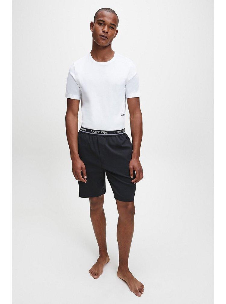 Calvin Klein černé kraťasy Sleep Short