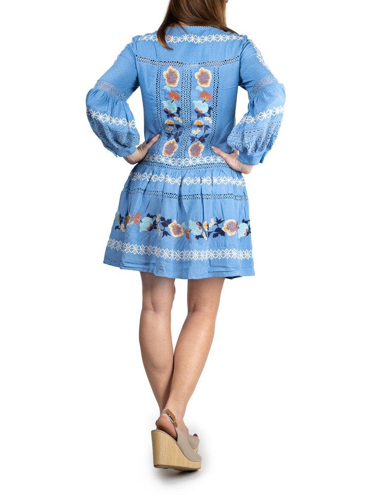 Anany modré šaty Puebla Azul