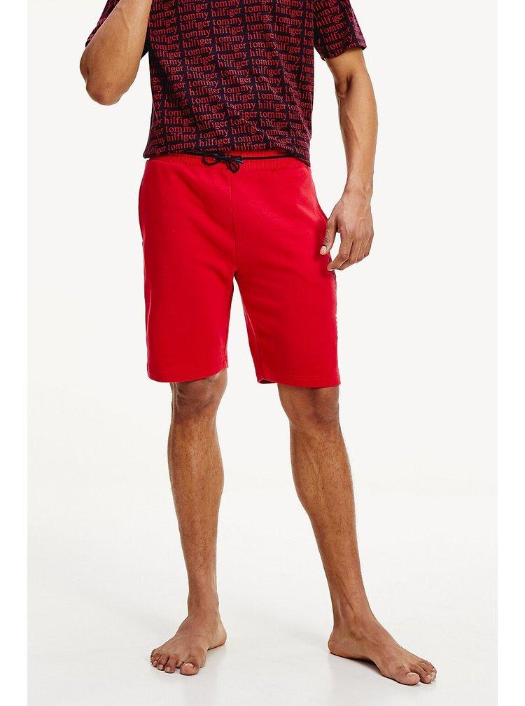 Tommy Hilfiger červené pánské kraťasy Shorts LWK Tango Red