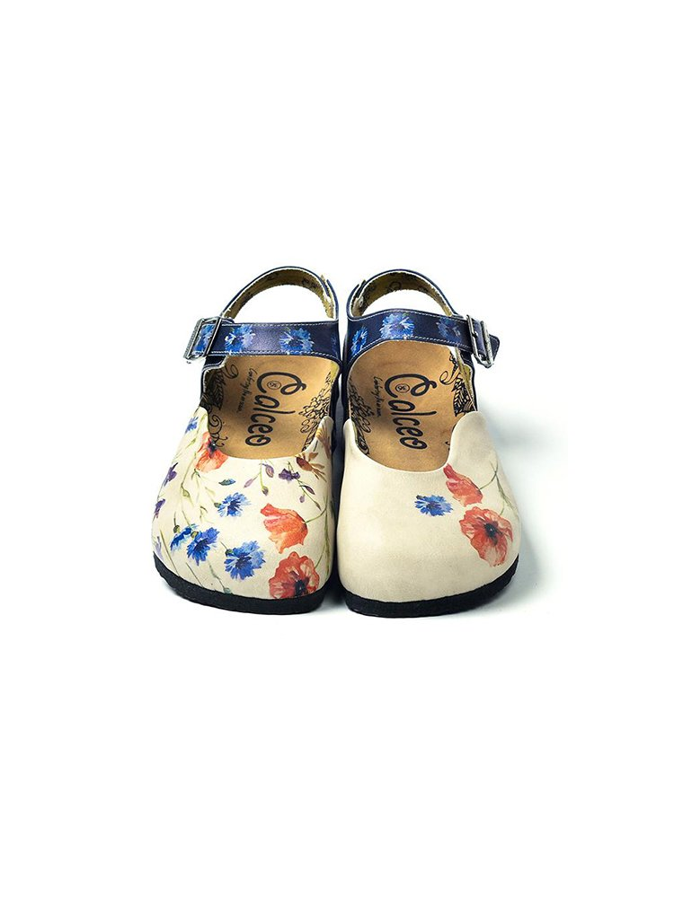 Calceo modré sandály Classic Sandals Wildflowers
