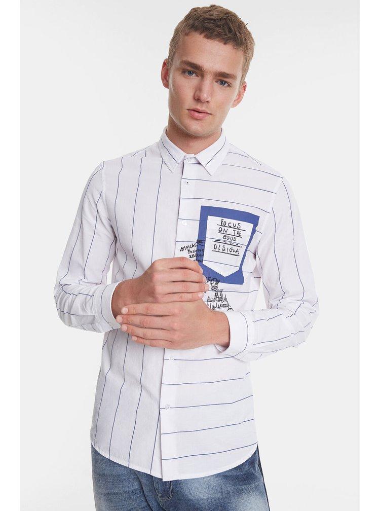 Desigual pruhovaná pánská košile Cam Darragh s kapsičkou