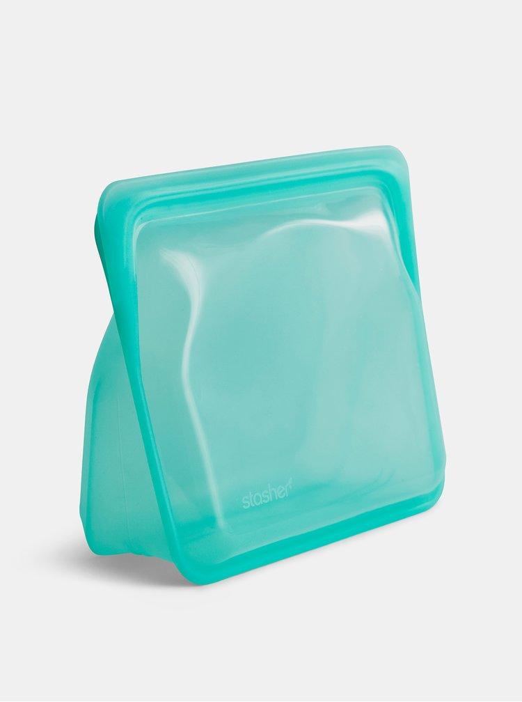 Modrý silikonový sáček na potraviny Stasher Stand up 1,66 l