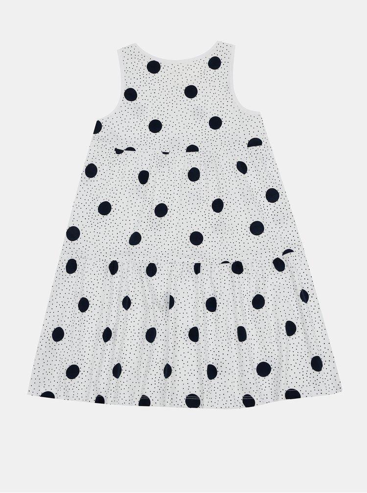 Bílé holčičí puntíkované šaty name it Vigga