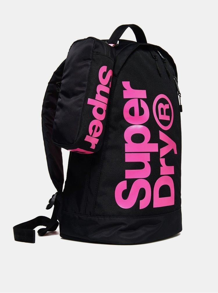 Černý dámský batoh s pouzdrem Superdry