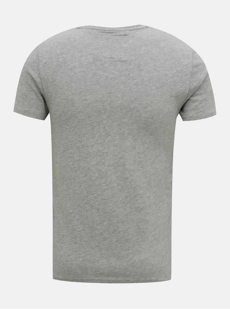 Šedé pánské tričko Superdry