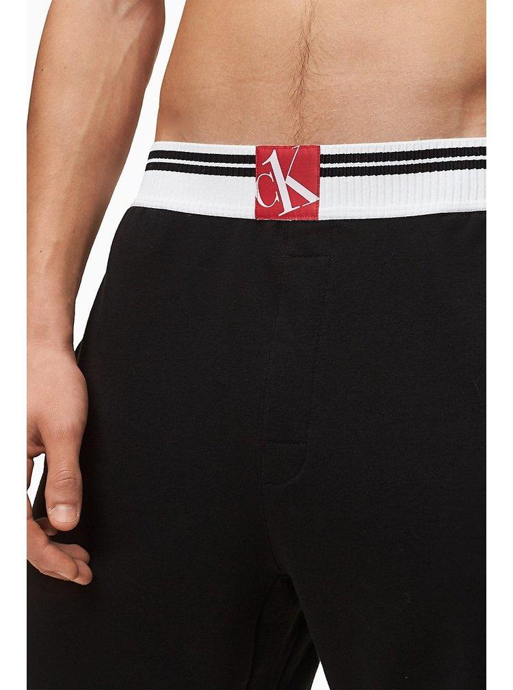 Calvin Klein černé teplákové kraťasy Sleep Short