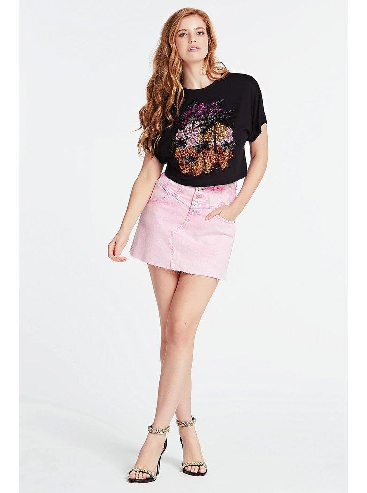Guess růžová denimová sukně