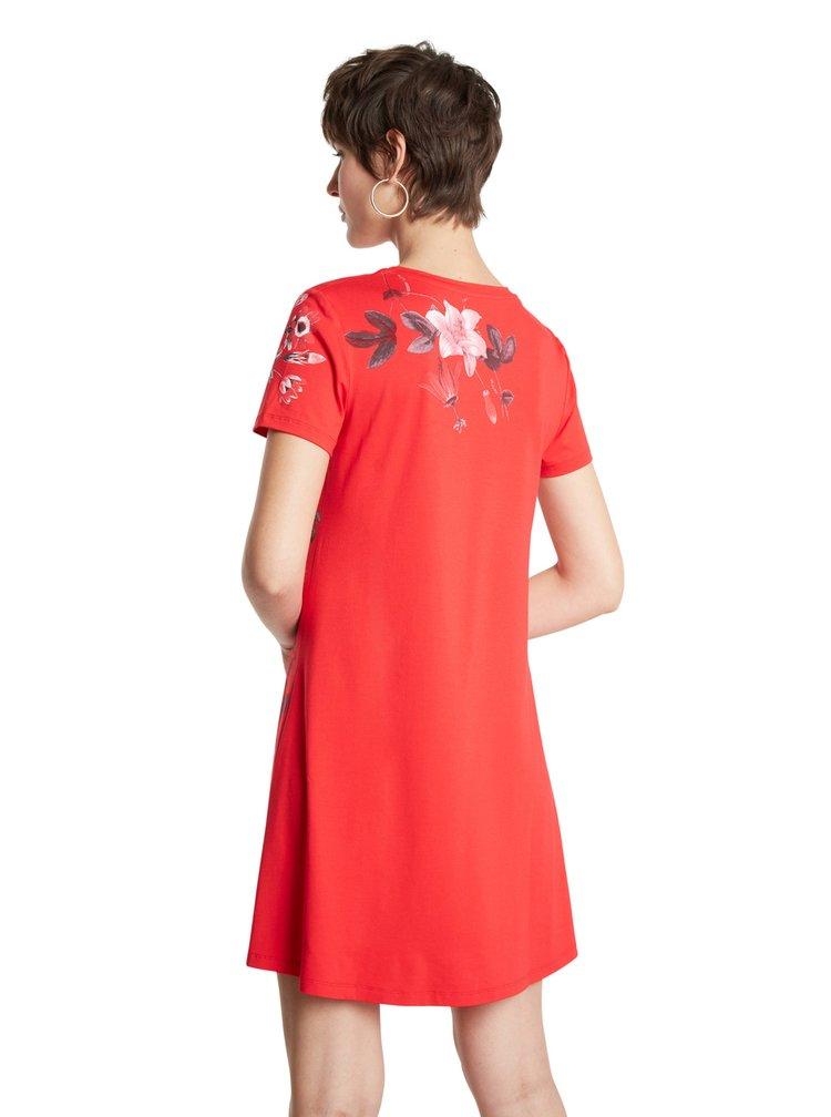 Desigual červené šaty Vest Caroline