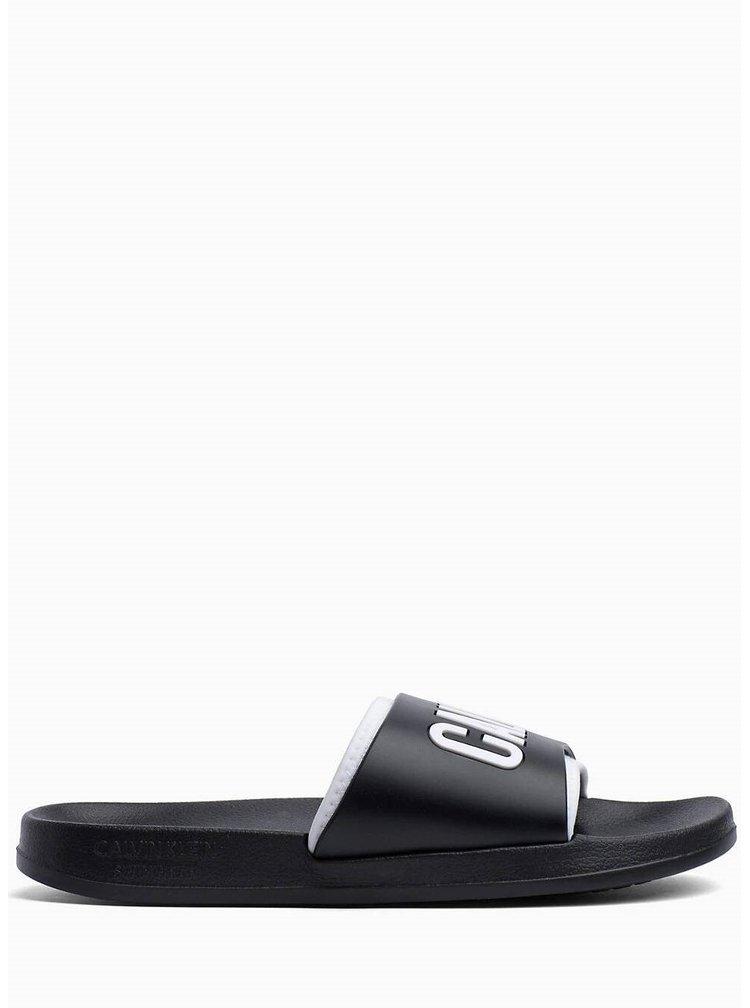 Calvin Klein černé unisex pantofle Slide Intense Power