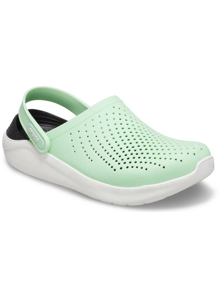 Crocs zelené boty LiteRide Clog Neo Mint/Almost White