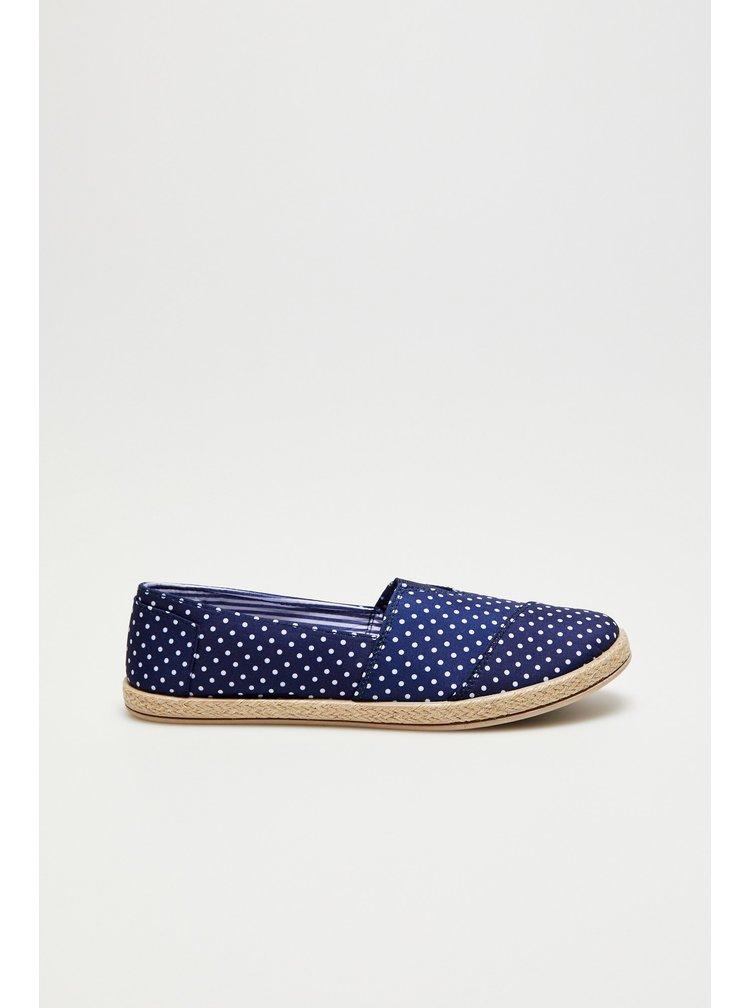 Moodo modré espadrilky s puntíky